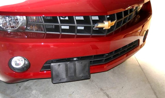 retractable front license plate frameholder hide your front license plate camaro5 chevy camaro forum camaro zl1 ss and v6 forums camaro5com