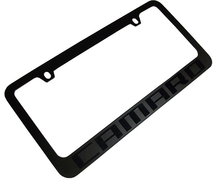 2010 2015 Camaro License Plate Frame Blk Rpidesigns Com
